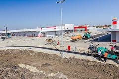 Construção de estradas Asphalt Spreader Foto de Stock Royalty Free