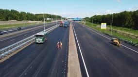 Construção de estradas da estrada holandesa A6 filme