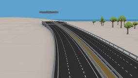 Construção de estradas do anel, construção da autoestrada video estoque