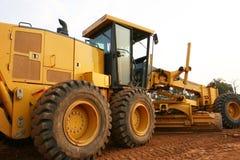 Construção de estradas do graduador Imagem de Stock Royalty Free