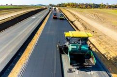 Construção de estradas nova Fotos de Stock Royalty Free
