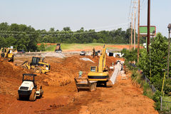 Construção de estradas principal Foto de Stock Royalty Free