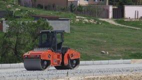 Construção de estradas - rolo de estrada video estoque
