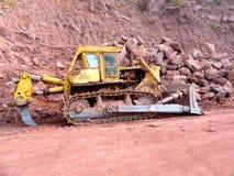A construção de estradas trabalha a maquinaria Imagem de Stock