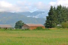 Construção de exploração agrícola Não-descritiva simples Foto de Stock Royalty Free