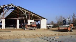 Construção de fazendas de criação Fotografia de Stock Royalty Free