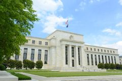 Construção de Federal Reserve no Washington DC, EUA Foto de Stock Royalty Free