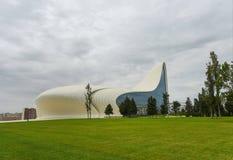 Construção de Heydar Aliyev Center Fotografia de Stock Royalty Free