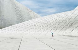 Construção de Heydar Aliyev Center Imagem de Stock