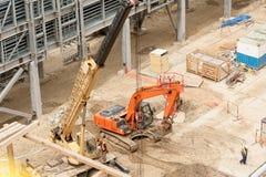 Construção de instalação petroquímica Tobolsk fotos de stock