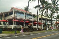 Construção de Kailua Kona imagem de stock