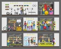 Construção de loja do esporte ilustração do vetor