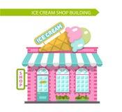 Construção de loja do gelado ilustração stock