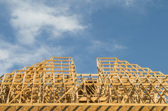 Construção de madeira Fotos de Stock