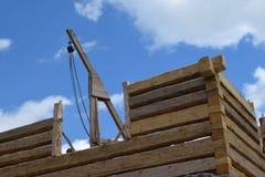 Construção de madeira da casa eslovaca tradicional Imagens de Stock