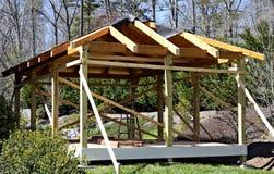 Construção de madeira da plataforma Fotografia de Stock