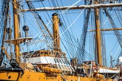 Construção de madeira do navio alto Fotos de Stock