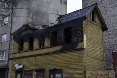 Construção de madeira para fora queimada em Talin Imagens de Stock