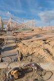 Construção de madeira de quadro home dos fardos da construção nova Imagens de Stock