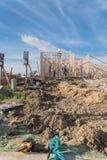 Construção de madeira de quadro home dos fardos da construção nova Foto de Stock