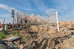 Construção de madeira de quadro home dos fardos da construção nova Fotografia de Stock Royalty Free