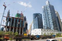 Construção de Marina One Project em Singapura imagens de stock royalty free