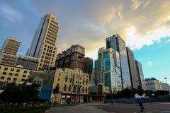 A construção de Martinelli em São Paulo Fotografia de Stock Royalty Free