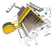 Construção de medição Foto de Stock Royalty Free