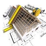 Construção de medição Imagem de Stock Royalty Free