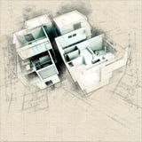 Construção de Modern do desenhista em modelos ilustração royalty free