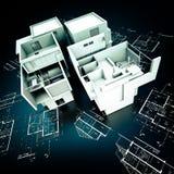 Construção de Modern do desenhista em modelos Imagem de Stock Royalty Free