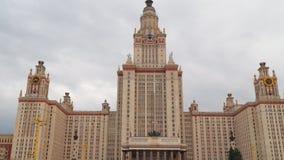 Construção de MSU em Moscou vídeos de arquivo