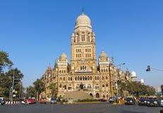 Construção de Municipal Corporaçõ de Mumbai, Índia fotografia de stock