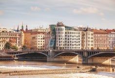 Construção de Nationale-Nederlanden em Praga, República Checa Fotos de Stock Royalty Free