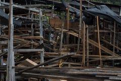 Construção de navios na ilha de Pangkor imagens de stock