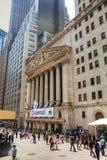 Construção de New York Stock Exchange Imagem de Stock