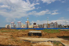 Construção de novos domicilios Foto de Stock