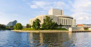 Construção de Opera em Bydgoszcz, Polônia Fotografia de Stock Royalty Free