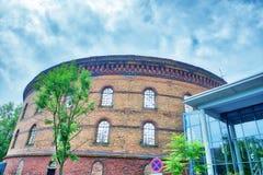 Construção de Panometer em Leipzig, Alemanha fotos de stock