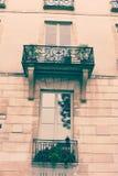 Construção de Paris do vintage fotos de stock royalty free