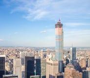 Construção de 432 Park Avenue no Midtown Manhattan Fotos de Stock