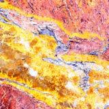 A construção de pedra de mármore do teste padrão do detalhe da natureza do grunge do fundo do vintage da laje do efeito da elegân Imagem de Stock