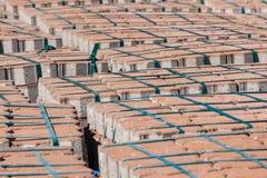 Construção de pedra de Palets do tijolo Fotografia de Stock