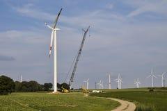 Construção de planta das energias eólicas Foto de Stock Royalty Free