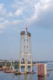Construção de ponte Fotografia de Stock