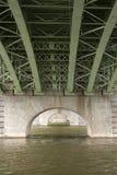 Construção de ponte de aço Fotos de Stock Royalty Free