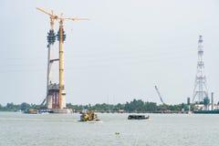 Construção de ponte no delta de Mekong Imagem de Stock Royalty Free