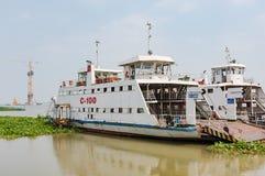 Construção de ponte no delta de Mekong Foto de Stock Royalty Free