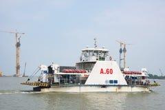 Construção de ponte no delta de Mekong Fotos de Stock Royalty Free