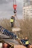 Construção de ponte nova Imagens de Stock